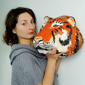 tygrys ceramika JumaArt 11